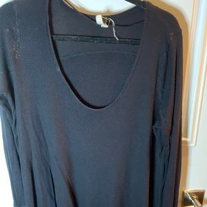 Free people black long sleeve